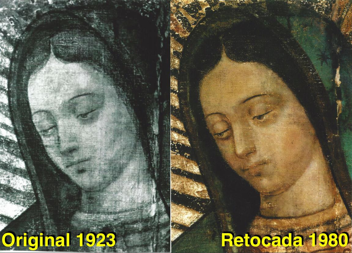 Risultati immagini per guadalupe vero volto
